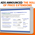 Bing Ads announced the rollout of price extensions