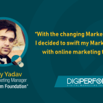 """""""With the changing Marketing trends, I decided to swift my Marketing skills with online marketing training""""- Divey Yadav"""
