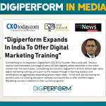 """Digiperform in Media: """"Digiperform Expands In India To Offer Digital Marketing Training"""" – Manu Jolly"""