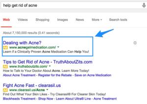 adwords-copy-get-rid-of-acne