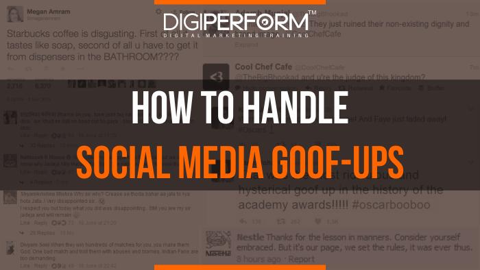 Social media Goof ups