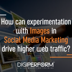 How can experimentation with images in Social Media Marketing drive higher web traffic?