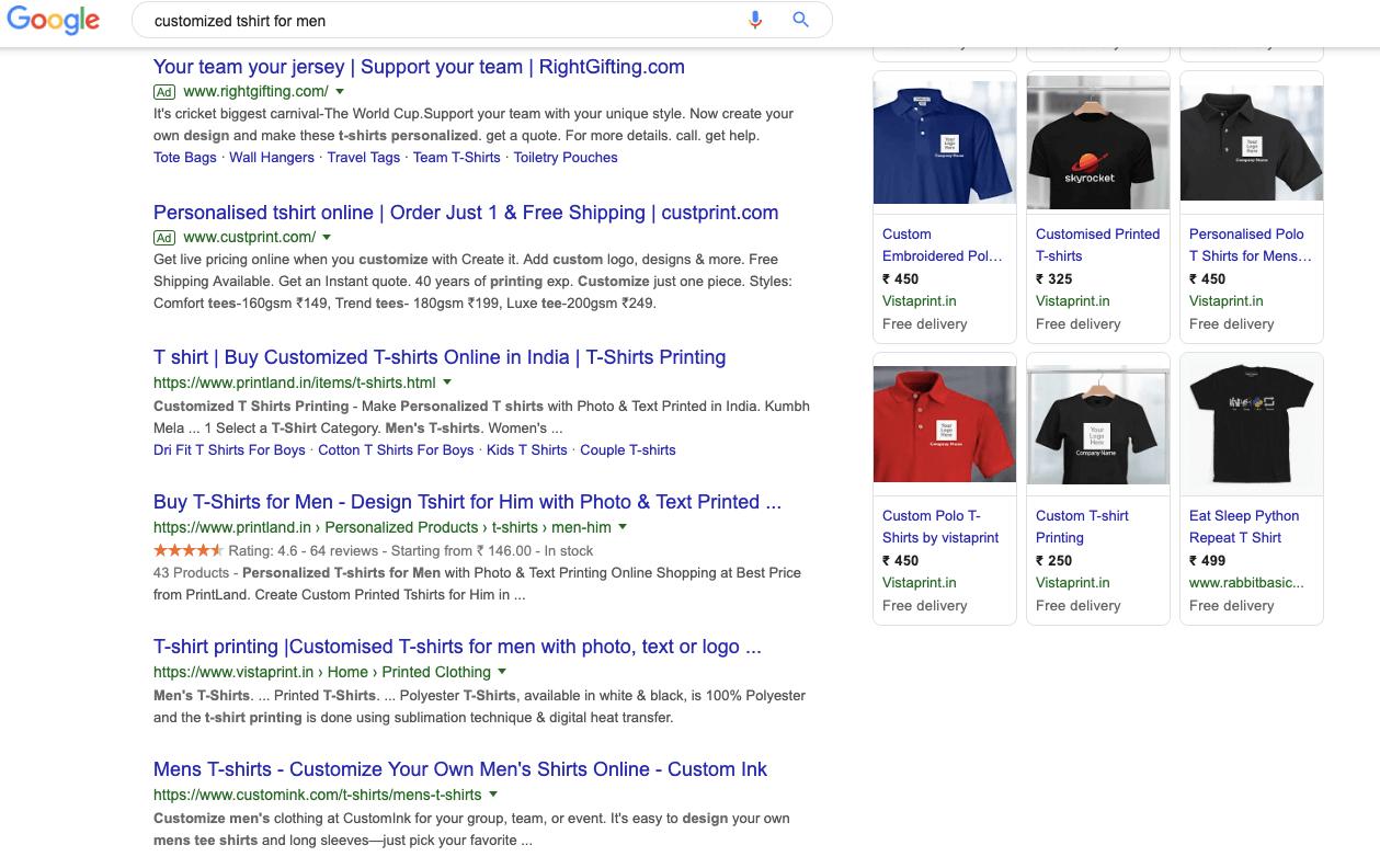 customized tshirt for men