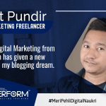 Learning Digital Marketing from Digiperform has given a new direction to my blogging dream. – Sumit Pundir