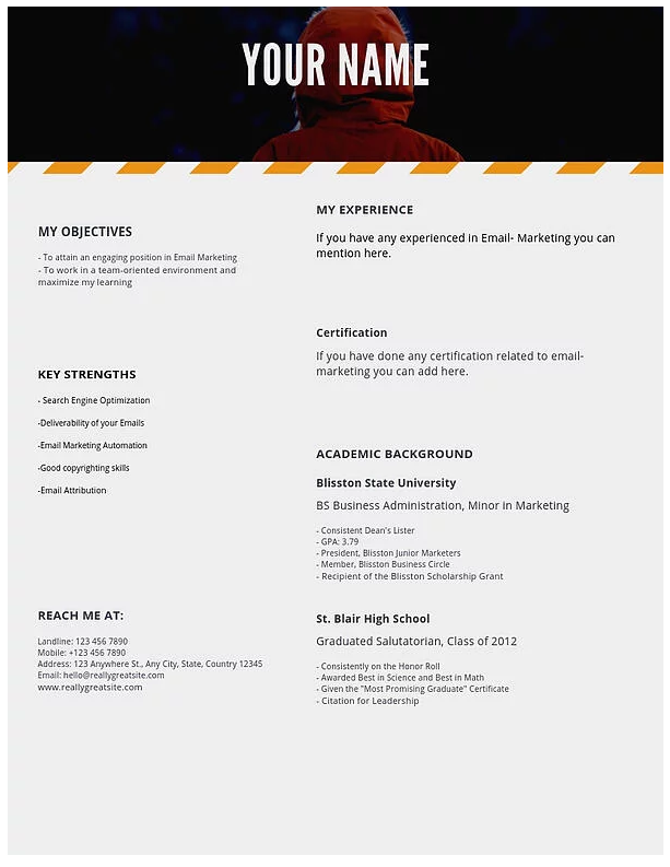 email resume